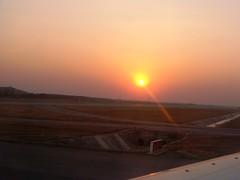 Sunset at Hyderabad (v s raam (on/off)) Tags: sunset sun india nature set plane landscape airport aeroplane international gandhi rajeev hyderabad andhra rajiv andhrapradesh internationalairport rayalaseema gmr shamshabad rajivgandhi telangana shamsabad seemandhra