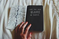 Cracked (Melsome.) Tags: orange art girl vintage skeleton photography this bed mine neon hand drawing journal hipster nails indie bones spine thin wreck neonnails wreckthisjournal