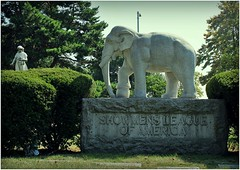 Showmen's Rest (BalineseCat) Tags: park elephant monument cemetery america forest rest league woodlawn showmens