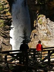 Lower Falls, Johnston Canyon (annkelliott) Tags: trees people woman canada man nature water creek forest landscape scenery rocks canyon erosion alberta gorge rockymountains lowerfalls banffnationalpark canadianrockies johnstoncanyon