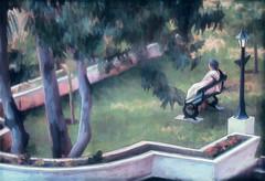 Contemplation (Terry Pellmar) Tags: trees woman india texture garden bench digitalart digitalpainting hypothetical vividimagination artdigital shockofthenew trolled sharingart awardtree artistictreasurechest trollieexcellence exoticimage mygearandme netartii galleryoffantasticshots