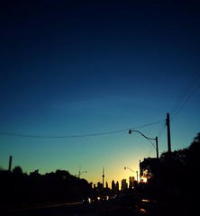 en route home (@ThetaState) Tags: city sunset toronto ontario canada buildings october cityscape lakeshore 2013