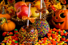 Caramel apple (Arina Habich) Tags: autumn food orange white holiday plant black cold fall halloween apple cookies yellow fruit dessert frozen milk scary healthy basket candy natural sweet traditional nuts cream fresh caramel covered icecream round sweets stick organic variety woven tradition dairy fiber sugary multicolor indulgence confectionery candycorn topping ripe confection caramelapple toppings sprinkle kitchenware dipped trickortreating allhallowseve wickerbasket taffyapple fallholiday coldfood sweetfood appleonastick drytoppings paganharvestfestival