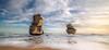 Duplication (Nick Twyford) Tags: longexposure sea seascape beach clouds nikon waves australia wideangle bluesky nopeople victoria greatoceanroad rockstack gibsonsteps princetown lateafternoonlight portcampbellnationalpark colourimage leefilters gogandmagog 1024mm d7000 lee09nd lee06gndsoft phottixgeoone