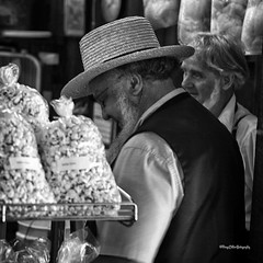 """Sellers of the Corn' (DigitalDoug - ) Tags: bw amish nik canon5dmii canonef100mmf28lmacroisusm silverefexpro2 colorefexpro4 rootsfarmersmarket"