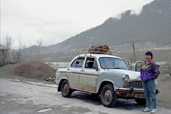 WHO NEEDS a LAND ROVER when YOU HAVE an AMBASSADOR ?, KASHMIR ROAD TRIP  (1995), Srinagar to Aru, Kashmir, India  (III) (kk_wpg) Tags: travel india mountains asia hiking hike 1995 kashmir srinagar himalayas jammuandkashmir himalayamountains kkwpg kashmirroadtrip bgtk