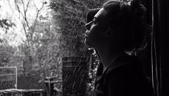 (Corah Louise Photography) Tags: lighting light portrait blackandwhite bw woman white black male love girl face up rain female dark hair outside person break sad romance edge divorce jumper fe wooly bun upset