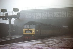 Through The Fog. (Kingfisher 24) Tags: station scotland oldschool signals perth platforms halina35x class08 brushtype4 d1621