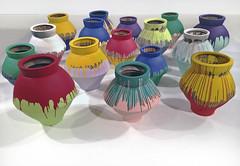 painted jars (Mr.  Mark) Tags: toronto colour art museum photo paint artist gallery mason stock chinese installation jar pottery ago jugs otherpeoplesart aiweiwei markboucher