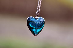 ♥♥The heart is for all my friends on Flickr :-))) and   I thank all for being my friends on flickr :-)))♥♥ (Eggii) Tags: blue heart time bokeh jewelry simplicity minimalism f18 d90 nikkor50mm18 nikond90 eggii