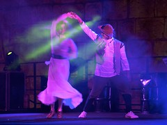 """""""We're dancing to music no one else hears"""" (pic-nic97) Tags: festival canon20d spin jerusalem knights nonstop musiclife dancelife musicquotes showsmoke bridgitmendler"""