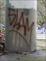 Slam TBF (Alex Ellison) Tags: urban graffiti slam tag graff southlondon tbf heygateestate thebufffails