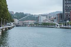 Puente de Zubizuri, Bilbao (jacqueline.poggi) Tags: bridge españa architecture spain footbridge bilbao architect pont espagne vizcaya paysbasque paísvasco passerelle zubizuri contemporaryarchitecture biscaye architecturecontemporaine riadelnervion