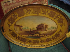 "TOLE TRAY, 1950'S. • <a style=""font-size:0.8em;"" href=""http://www.flickr.com/photos/51721355@N02/11120878955/"" target=""_blank"">View on Flickr</a>"