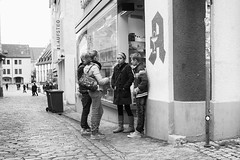 Youth (Nekr0n) Tags: street leica city urban blackandwhite bw monochrome digital germany deutschland blackwhite leute strasse streetphotography x kinder stadt 24 28 24mm freiburg schwarzweiss altstadt asph f28 x1 compactcamera xseries elmarit primelens strase imbreisgau leicax1gallery