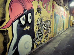 Calimero (Channed) Tags: city travel streetart wall indonesia graffiti java vakantie asia kunst reis yogyakarta yogya jogjakarta stad calimero indonesi straat azi yogja chantalnederstigt indonesi azi