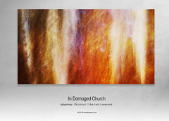 In Damaged Church - detail 1 (ZsoltBalazsPhoto) Tags: longexposure orange fall lights canvas damage publication vision:food=0677 ligthpaintings