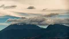 Lenticular Clouds at Agua volcano Peak (davidascoli) Tags: sky cloud paisajes nature clouds landscape volcano landscapes timelapse nikon guatemala paisaje nubes cielos cloudporn d800 skyporn aguavolcano nubeslenticulares timelapses