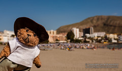 POTD 04 February 2013: Los Cristianos (Ian M Butterfield) Tags: bear sun beach hat sunshine weather toy toys clothing spain europe european teddy bears hats eu objects sunny bluesky potd plush coastal teddybear beaches tenerife coastline blueskies es teddies teddybears cuddlytoy softtoy espania headgear beni cuddlytoys softtoys cuddlies loscristianos geographicfeatures