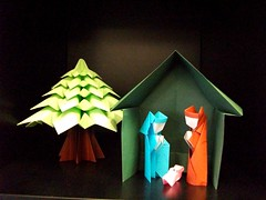 Merry Christmas everybody (mancinerie) Tags: origami paperfolding modularorigami francescomancini mancinerie