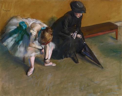 Edgar Degas - Waiting [c.1882]