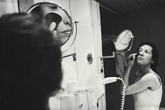 Works of mirror (Sator Arepo) Tags: portrait blackandwhite reflection glass canon bathroom mirror makeup brush 5d markii 1635mm esla3