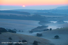 ditchling-beacon-sunrise (Nick Dautlich) Tags: uk morning england misty sunrise landscape sussex countryside landscapeuk
