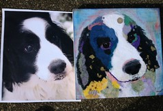 Torn Paper Dog Portrait - Jack (all things paper) Tags: petportraits chigirie tornpaperart