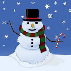 Snowman (rsherwoodpix) Tags: snowflake christmas xmas winter white holiday snow ice hat cane season happy frozen snowman candy snowy noel card freeze carrot stick snowing greetings blizzard merrychristmas yuletide wintery freezeing