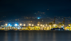 The port of Trieste by night (Alja Vidmar   ADesign Studio) Tags: longexposure sea italy night port ship cargo telephoto trieste d800 lightstar