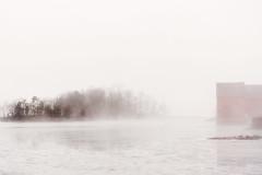 Misty Pond (JMS2) Tags: mist water weather fog landscape harbor pond sony scenic atmosphere rye westchestercounty