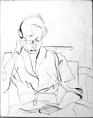 1949 Carol Spachner, Aspen (Yvonne Thompson) Tags: modernism sketchbook 1940s classical aspen sketches 1949 aspencolorado aspenmusicfestival 1940smusicians goethebicentennial