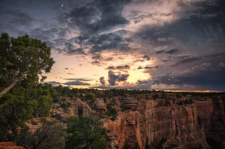 Moonrise and Storm over Canyon de Chelly