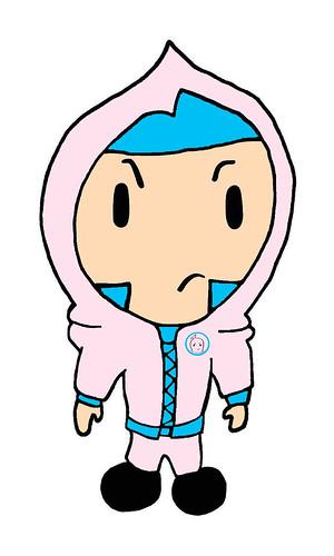 Pink Pinkee Pop Ski Mask Fashion Hoodie Hoody Bad Girls Club Logo