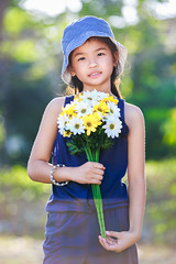 (Patrick Foto ;)) Tags: park summer portrait people sunlight flower tree cute green nature girl beautiful beauty field grass hat childhood smiling yellow female standing season asian thailand outside happy kid spring nice holding pretty day child looking natural little outdoor background joy young meadow adorable lifestyle sunny cap thai bunch bouquet lovely cheerful relaxation