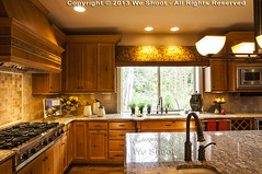 High-End Kitchen (weeviltwin) Tags: wood homes home kitchen architecture counter sink cabinet interior architectural stove granite residence residential range interiordesign spigot cabinets countertop burners hardwood weshootcom