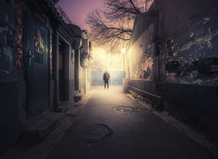 (inhiu) Tags: china longexposure light night nikon beijing hutong d800 gulou inhiu
