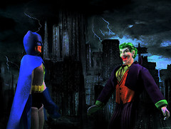 """See there were these two guys in a lunatic asylum"" (GhostLord) Tags: comics photography dc kevin comic action killing mark books batman joker figures conroy the hamill"