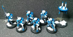 2014-02-21 11.16.40 (Solus Maximus) Tags: blue white fire 40k marker warhammer warrior warriors tau 40000 drone firewarriors