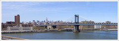 Manhattan Bridge - View from Brooklyn Bridge (afer92) Tags: nyc bridge newyork brooklyn manhattan esb brooklynbridge manhattanbridge eastriver pont empirestatebuilding avril suspensionbridge lowermanhattan 2014 twobridges confuciusplaza 0475 pontsuspendu 0476 leonmoisseiff