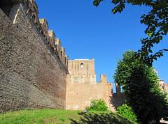 Cittadella (PD) - Italia (-marika bortolami-) Tags: street travel sky italy color building nature duomo rocca cittadella padova merlons padua veneto marikabortolami medioevalwalled fortifiedsystem