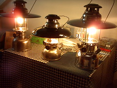 2 Anchor Lamps + Petromax (ebien) Tags: anchor optimus petroleum kerosenelamp petromax starklichtlampe petroleumlampe mewa seaanchor pressurelamp vapalux