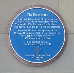 "Ormskirk Dispensary Plaque • <a style=""font-size:0.8em;"" href=""http://www.flickr.com/photos/9840291@N03/14313240290/"" target=""_blank"">View on Flickr</a>"