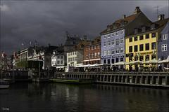 Nyhavn / Kopenhagen (zilverbat.) Tags: travel sky haven colors clouds canon buildings denmark photography harbor reizen 6d citytrip zilverbat elvinhagekpnplanetnl