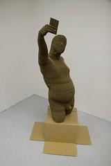 A_IMG_7061 (studioforcreativeinquiry) Tags: sculpture male cardboard layers torso selfie lasercut maletorso 3dscan bodyscan digitalfabrication kinect jonathanarmistead