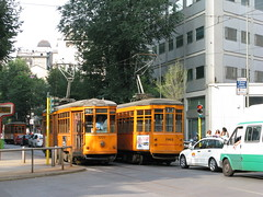 Classic trams in Milano (photobeppus) Tags: street urban streets photography milano cities tram transports