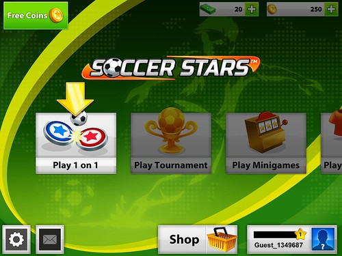 Soccer Stars Main Menu: screenshots, UI