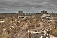 The view from the Hotel (Kriegaffe 9) Tags: city abandoned rooftop buildings decay ukraine derelict pripyat 1424 kriegaffe9