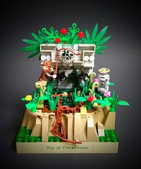 Eye on the Prize (Roy of Floremheim) Tags: lego moc creation build aztec ancient ruins jungle amazon forestry landscape growth grass treasure indianajones vignette rock plants trap absbuilderchallenge round16 royoffloremheim