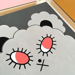 Photographing paintings for my upcoming solo show @piqgifts in Grand Central, NYC Oct. 29th (Andrea Kang) Tags: ifttt instagram piq kawaii cute artwork grey gray clouds puff andreakang piqproducts nyc paintings paint grandcentralterminal character characterart